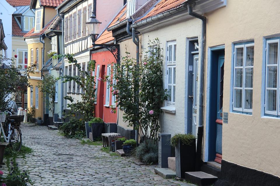 Idyllisk gade Aalborg