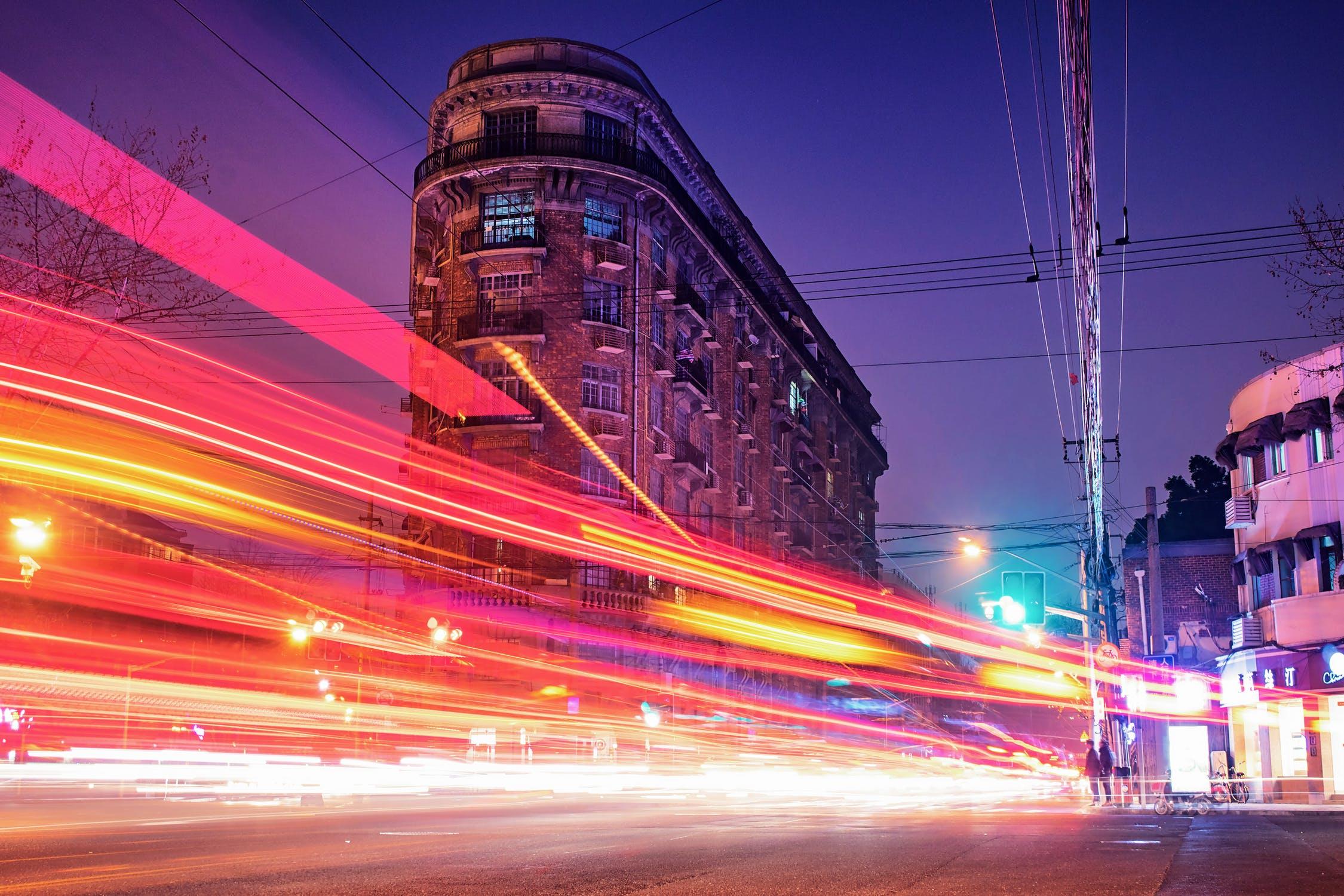 Gadebillede med høj hastighed