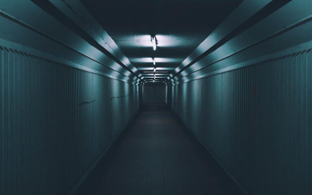 Uhyggelig gang i et Escape Room